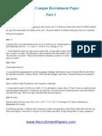 Infosys Recruitment Paper