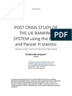 Post Crisis Study of the Uk Banking System Using the Rose and Panzar H Statistic