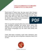 Keberkatan Sultan Johor Sultan Ibrahim Ibni Almarhum Sultan Iskandar