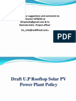 UP Draft Rooftop SPP Policy