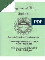 Stuyvesant Parent-Teacher Conferences March 1996