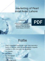 Service Marketing of Pearl Continental Hotel Lahore