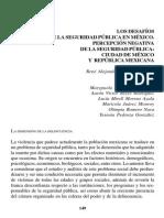 Percepción negativa de Seguridad Pública en México- Jimenez Ornelas