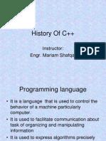 History of C++ Programming Language