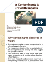 Water Contaminants and Their Health Impacts