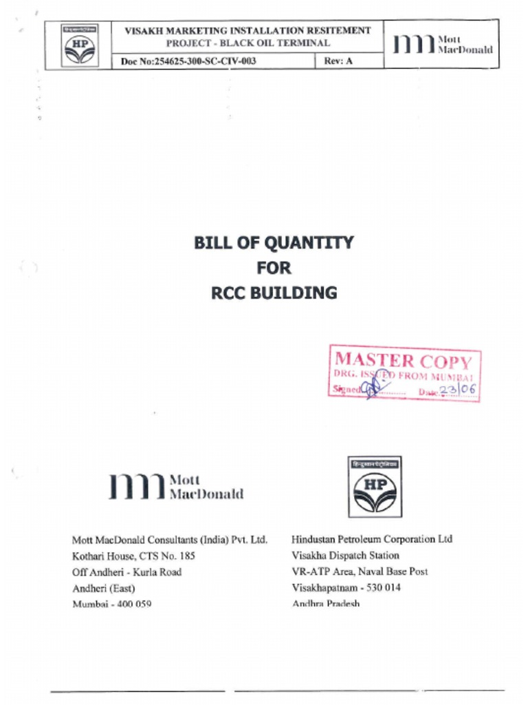 Bill of quantity for rcc buildings electrical wiring masonry thecheapjerseys Image collections