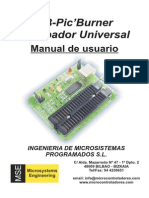 USB-PIC'Burner Manual de Usuario