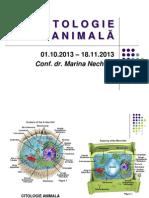 Citologie Animala - Cursul i, Anul i