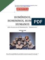 Sobre los procesos de hominización y humanización