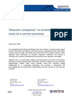 Telecoms companies' re-invention – from voice to e-service provision
