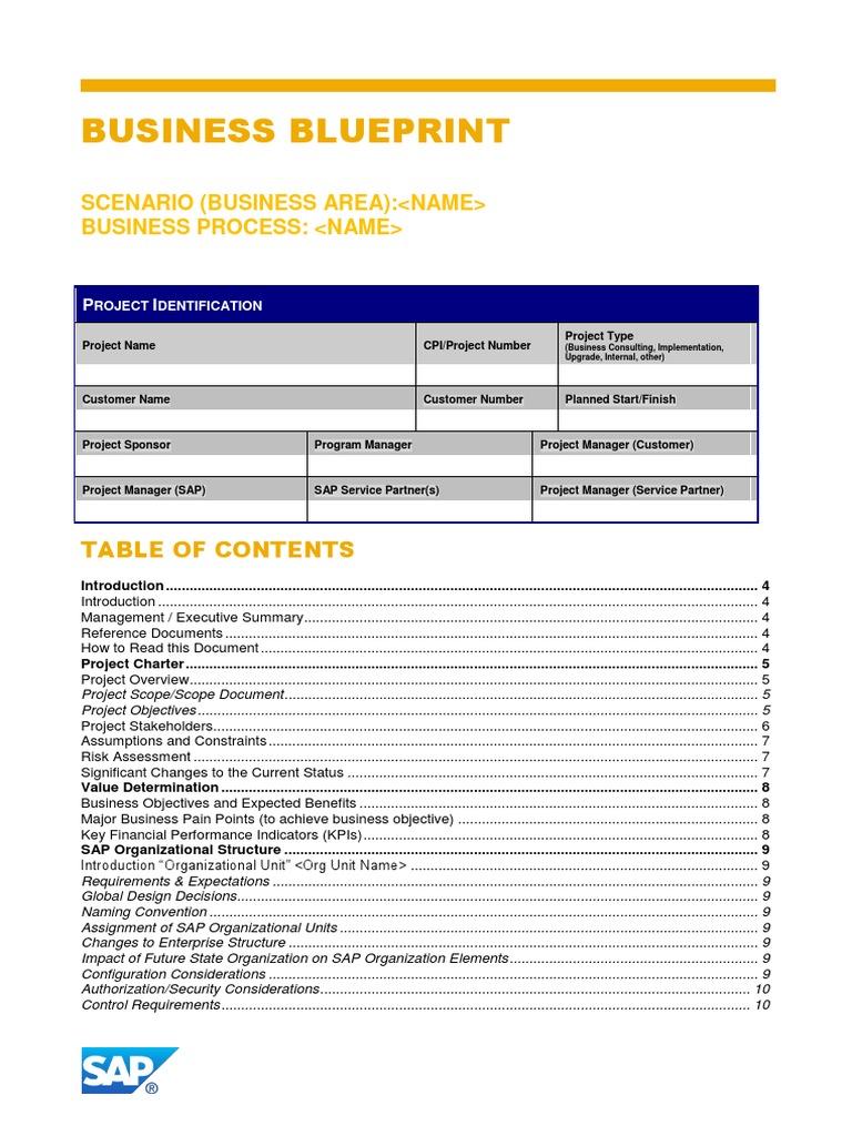 Business blueprint template business process file format malvernweather Choice Image