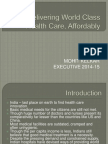 Delivering World Class Health Care, Affordably