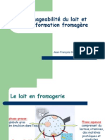 Fromageabilite Du Lait Et Transformation Fromagere COMBES