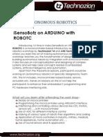 Technozion Workshop Sixth Autonomous Robot NRC
