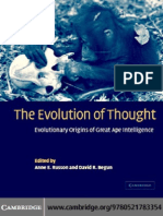 The Evolution of Thought evolutionary origins of Great ape Intelligence