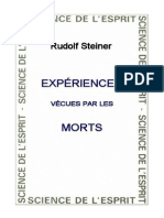 Expériences Vécues Par Les Morts Rudolf Steiner
