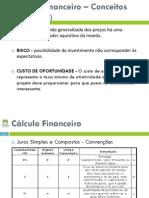 UA - GE 2014-2015 - Módulo IV - Cálculo Financeiro