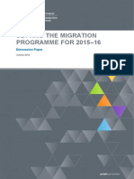 Migration Programme 2015 16 Discussion Paper