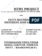 Determination of Fatty materials in Soap