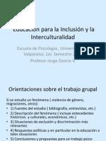 Educación Para La Inclusión e Interculturalidad, Sesiòn 3.