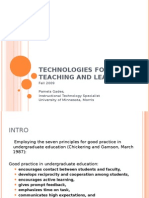 Technolgies for Teaching and Learning