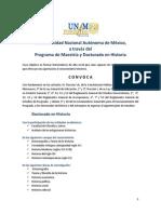 Convocatoria Doctorado 2016-1