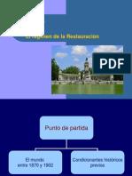 Tema 6- El Régimen de La Restauración (2014-15)