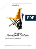 Electric High-lift Pallet Truck Operation Instraction
