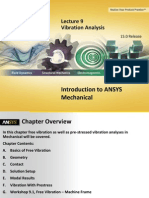 Mechanical Intro 15.0 L09 Vibration Analysis