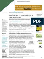 Falsos Mitos y Leyendas Sobre El NeuroMarketing