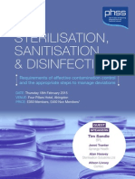 STERILISATION, SANITISATION & DISINFECTION