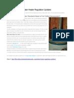 Fort Collins Water Heater Regulation Updates