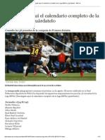 Calendario Completo de La Liga BBVA
