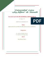 Facultad de Ingieneria Industrial Metodos