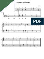 Mos Craciun Cu Plete Dalbe (piano score)