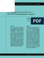 Duchamp Geographe en Guerre