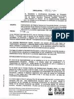 Circular 003 de 2014 Ley de Convivenciae Escolar