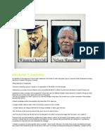 leadership project- mandela and winston churchill