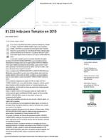 04-11-14 EnLineaDirecta- $1,333 mdp para Tampico en 2015