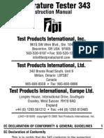 TPI 343 Manual temperature tester