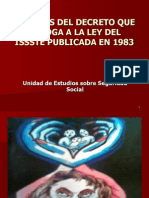 Análisis de La Ley Del ISSSTE Que Abroga a La de 1983