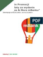 Regulamin Promocji Brak Oplaty Za Wydanie Karty Miles More w mBanku