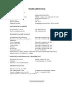 Modelo Currículum Vitae