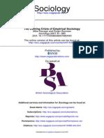 Burrows, The Coming Crisis of Empirical Sociology