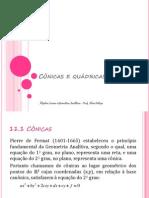 Cônicas e Quádricas Prof.aline