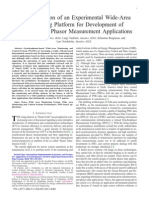 mplementation of an Experimental Wide-Area Monitoring Platform for Development of Synchronized Phasor Measurement Applications