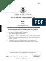 SPM Trial 2014 Physics MRSM