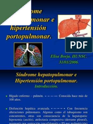 Diagnóstico de síndrome de hepatopulmonar por hipertensión portopulmonar