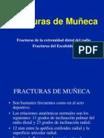 Muneca Fracturas