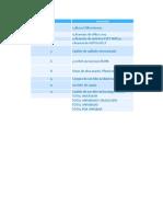 Balance de Gastos Generales Area Sistemas Penagos